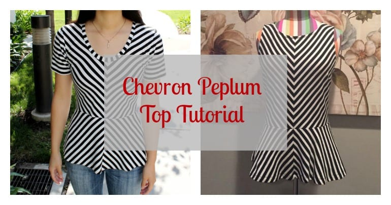 chevron peplum top tutorial