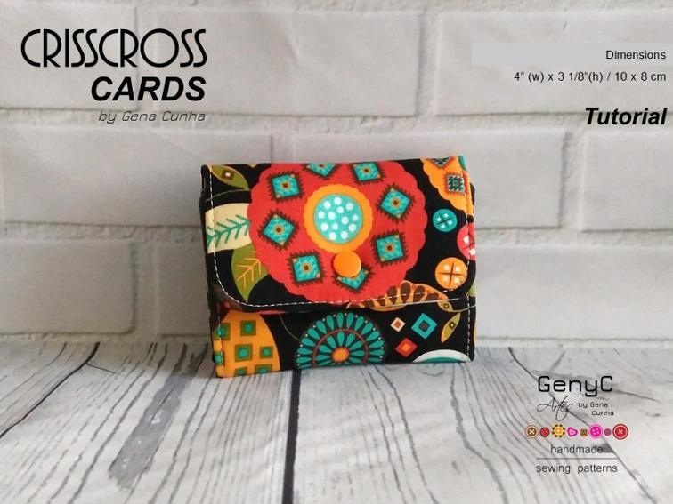 Crisscross Cards Mini Wallet Pattern FREE