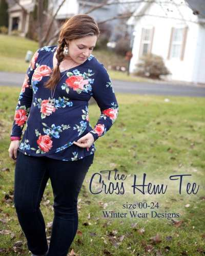 Cross Hem Tee Free Sewing Pattern