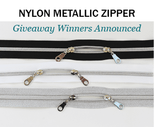 Winners of the Nylon Metallic Zippers Giveaway