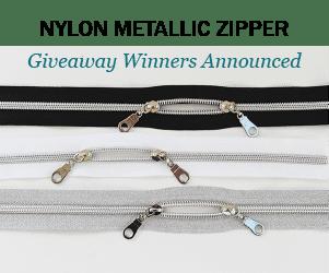 Winners of the Nylon Metallic Zippers Giveaway