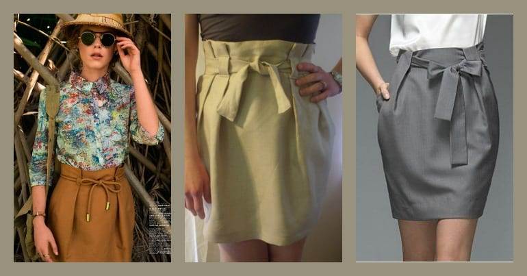 paper bag skirt tutorial