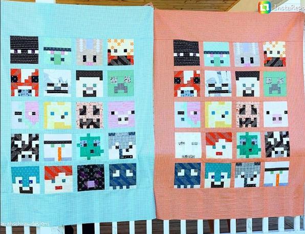 Minecraft Quilt Pattern Free My Handmade Space