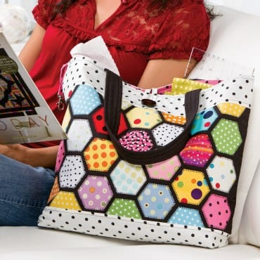 stained glass tote pattern