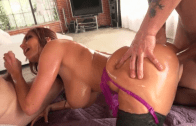 AVA ADDAMS OILED UP – DP THREESOME