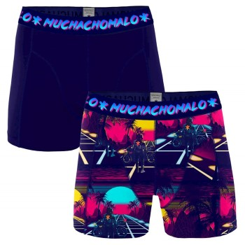Muchachomalo 2-pack Cotton Stretch Retro Wave Boxer