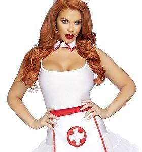 Sjuksköterske-accessoarer, maskerad-set