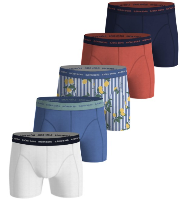 LEMONSTRIPE ESSENTIAL SHORTS 5-PACK Ultramarine,XXL