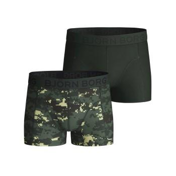 Björn Borg Kalsonger 2P Cotton Strech Shorts For Boys 2112 Camoflage bomull 122-128