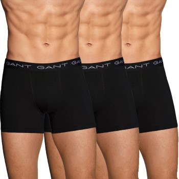 Gant Kalsonger 3P Cotton Stretch Boxer Svart bomull Large Herr