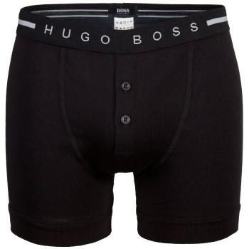 Hugo Boss Kalsonger Original Button Front Shorts Svart bomull X-Large Herr