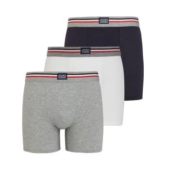 Jockey Kalsonger 3P Cotton Stretch Boxer Trunk Grå/Blå bomull X-Large Herr