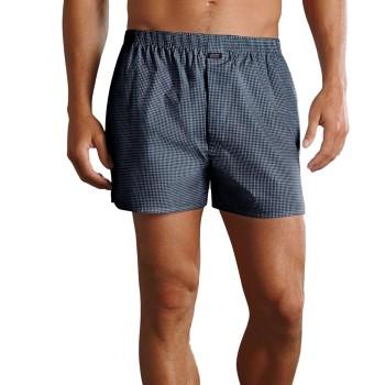Jockey Kalsonger Woven Poplin Boxer Shorts Marin Rutig bomull X-Large Herr