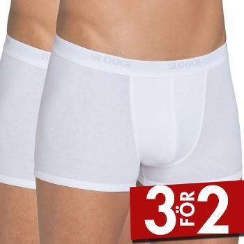 Sloggi Kalsonger 2P For Men Basic Short Vit bomull X-Large Herr