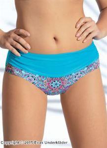 Bikinitrosa med detaljrikt mönster