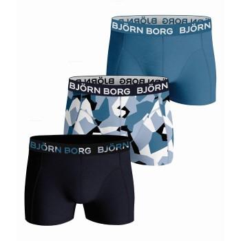 Björn Borg Kalsonger 3P Cotton Stretch Shorts For Boys 2123 Marin/Blå bomull 134-140