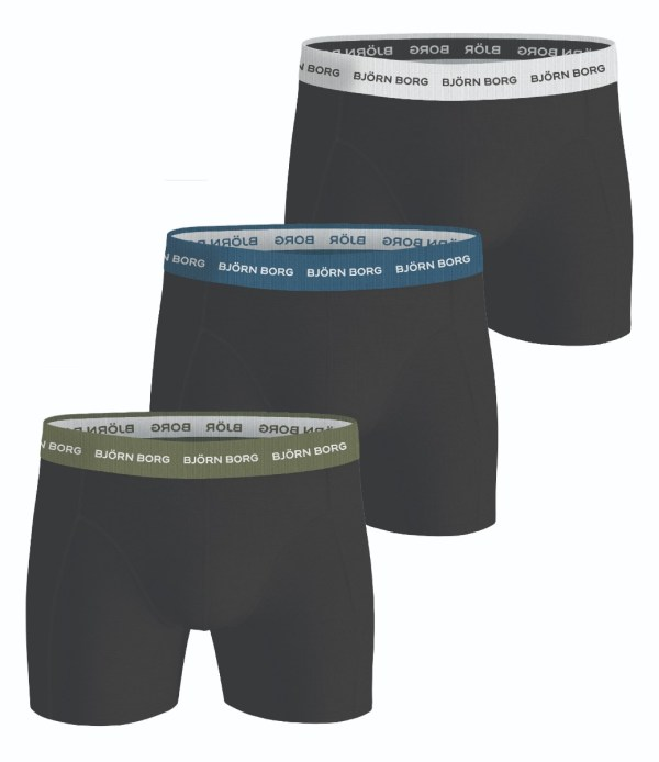 SOLID ESSENTIAL SHORTS 3-PACK Black Beauty,XS