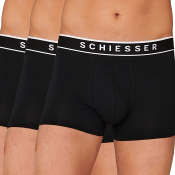 Schiesser Kalsonger 3P 95-5 Organic Cotton Rio Boxer Helsvart bomull XX-Large Herr
