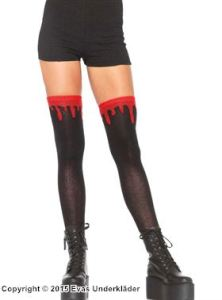 Stockings med blodröd kand