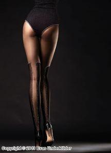 Strumpbyxa med glimmande over-knee-mönster