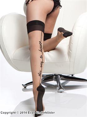 This way to heaven, stockings, plus size