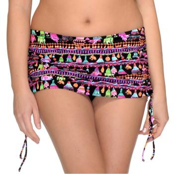 Saltabad Torguay Bikini Skirted Brief With String Svart mönstrad polyamid 44 Dam