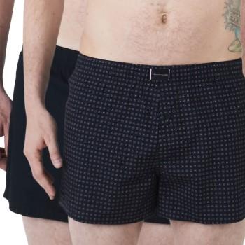 Tommy Hilfiger Kalsonger 2P Organic Cotton Woven Boxer Marin ekologisk bomull Medium Herr