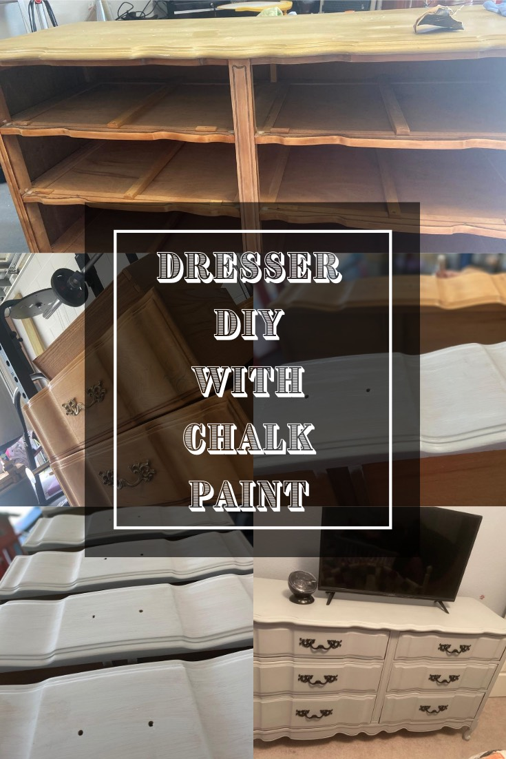 Pinterest image for blog post - Dresser DIY with Chalk Paint