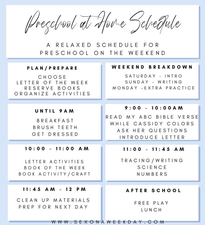 Preschool at Home Schedule