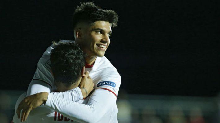 Correa en la celebración de uno de sus goles. (Marca.com)