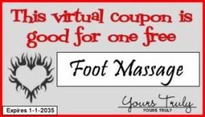 Foot Massage Romantic things