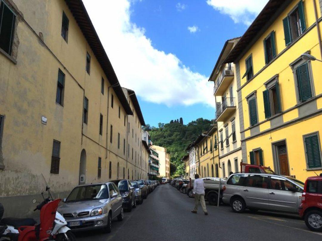 Floransa'da kaldığımız evin sokağı.
