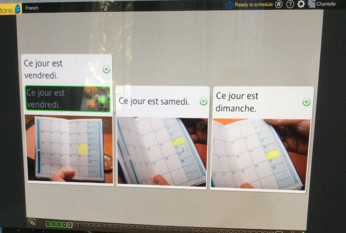 Learning french update 1 Rosetta Stone speak answer
