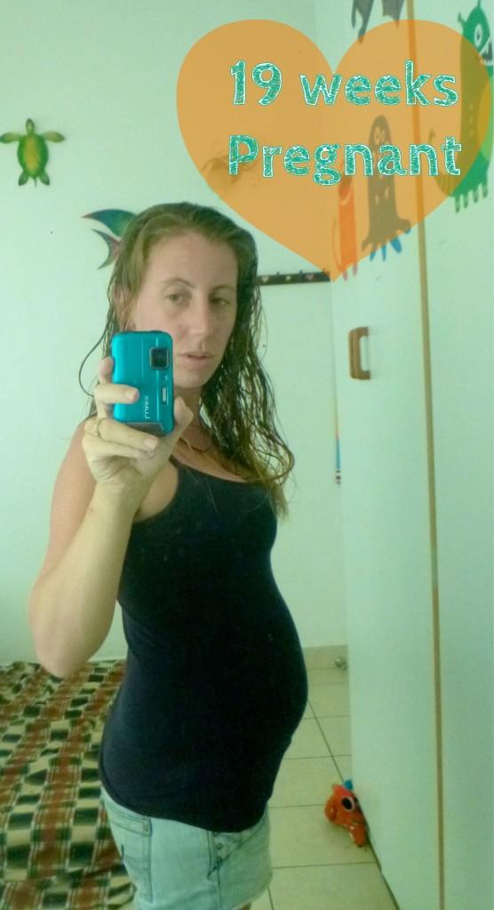 19 weeks pregnant bump