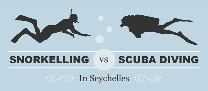 Snorkelling vs Scuba Diving in Seychelles