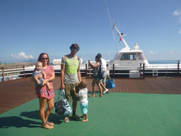 Boat to the Hilton Labriz Silhouette island