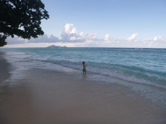 Evening beach Hilton Labriz silhouette island