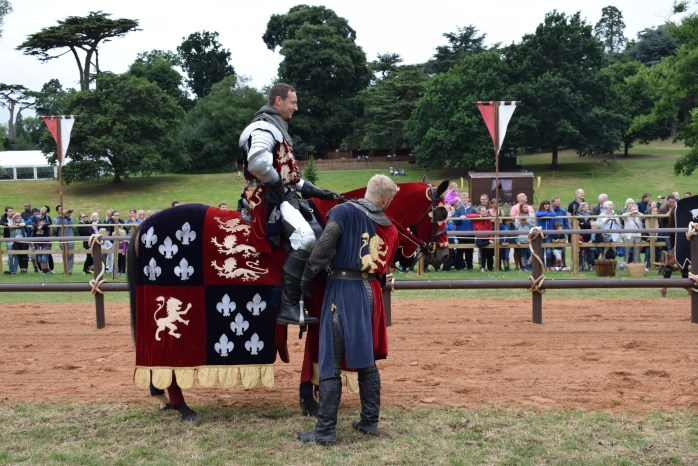 The knights.  Visiting Warwick Castle With Young Kids
