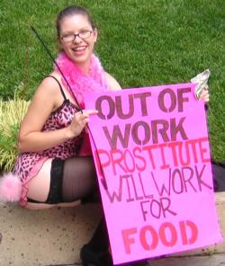 Desempleada. Las prostitutas trabajamos para comer