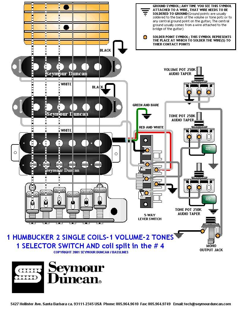 Wiring Diagram 2 Humbuckers 1 Volume 3 Way Switch Free Download ...
