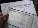 Karte. 150x112 zwischentag am 5. Oktober   doch in Berlin?