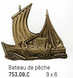 bronze bateau de peche