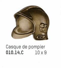 bronze casque de pompier