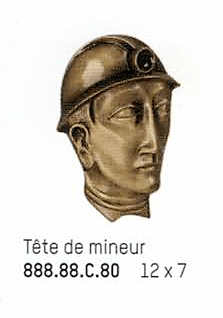 bronze tete de mineur