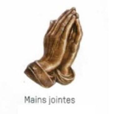 MAINS JOINTES EN PRIERE