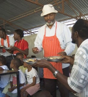 At St. Claire, his church in Port au Prince, Haiti, Pere (Father) Jean-Juste fed thousands of people every week – mainly children, but anyone who was hungry was welcome.