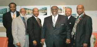 "This photo is printed on the front page of a spring 2006 Lennar newsletter with the following caption: ""Tabernacle Affiliated Developers, joint venture developers with Lennar. (L to R) - Herman Blackmon, Dr. Aurelious Walker, Rev. J. Edgar Boyd, Bishop Donald E. Green, Rev. Calvin Jones and Dr. James McCray."""