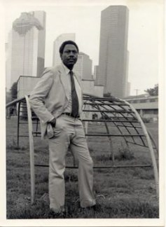 Lenwood Johnson is shown here in 1980, early in the fight to preserve Allen Parkway Village, located in Houston's now-historic district of Freedmen's Town.