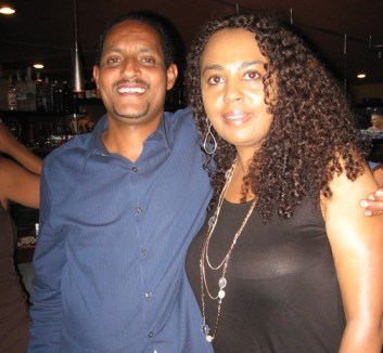 Tess and Yeme, proprietors of the Shashamane Bar and Grill at 2507 Broadway in Oakland, hosted the Maafa 2009 Hurricane Katrina Fundraiser and Reportback on Sunday, Aug. 30. - Photo: Wanda Sabir
