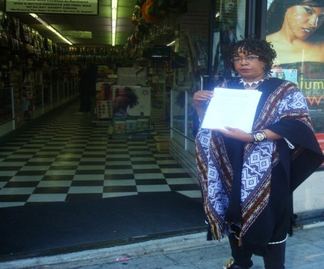 Patricia Pittman Mitchell will be outside Ebony Beauty Supply passing out fliers and aiming to build a movement for community respect and self-respect every Saturday after 2 p.m.